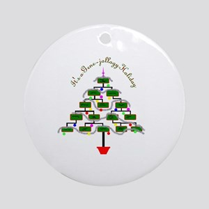 Genealogy Christmas Tree Ornament (Round)