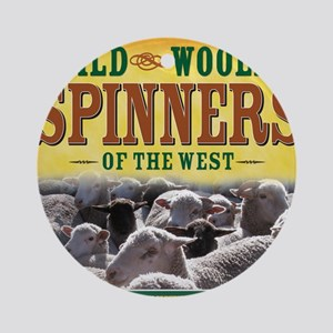 Wild Woolly Spinners of the West Round Ornament
