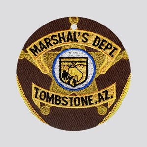 Tombstone Marshal Ornament (Round)