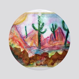 Desert, colorful, Ornament (Round)