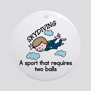Skydiving Sport Ornament (Round)