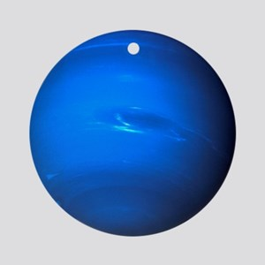 Neptune, Voyager 2 image - Round Ornament