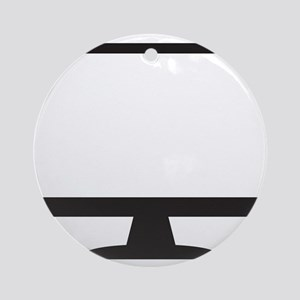 Computer Screen Silhouette Round Ornament