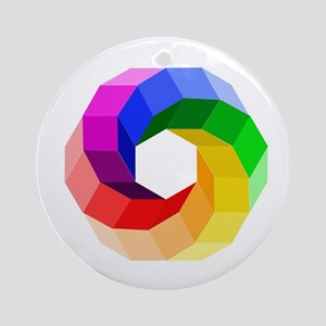 Color wheel- the sever colors of ra Round Ornament