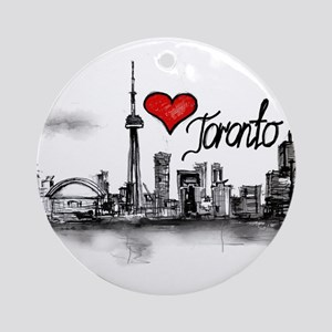 I love Toronto Round Ornament