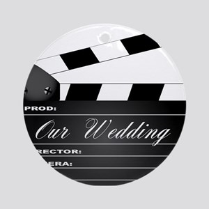 Our Wedding Clapperboard Round Ornament