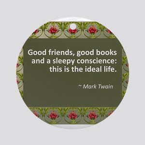 Good Friends, Good Books Ornament (Round)