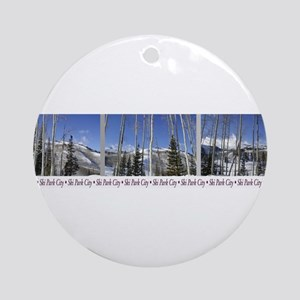 Park City on top of Deer Vall Ornament (Round)