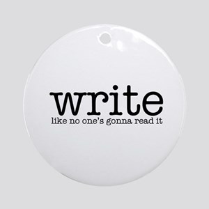 Writing Life Ornament (Round)