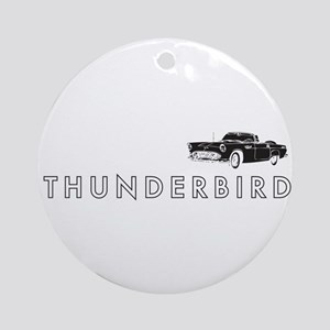 1955 Ford Thunderbird Ornament (Round)