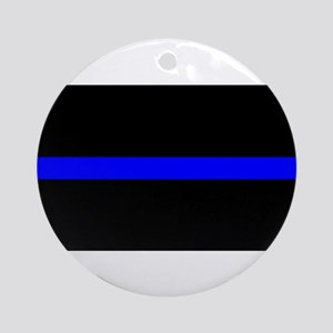 Thin Blue Line - USA United States Round Ornament