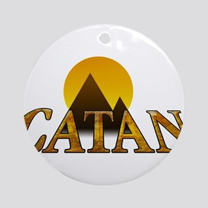 Modern Settlers of Catan Round Ornament
