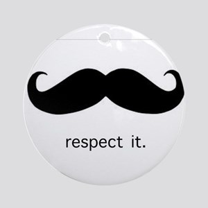 Respect the 'Stache Ornament (Round)