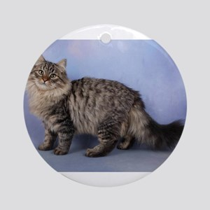 siberian spotted tabby cat Ornament (Round)