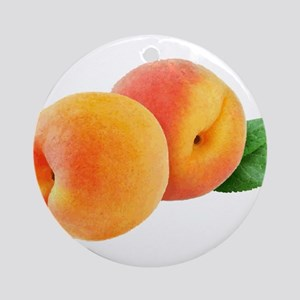 Digital peaches Round Ornament