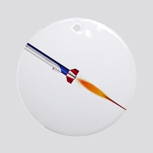 Flying Cruise Missile Round Ornament