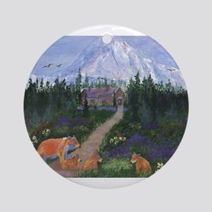 Denali Round Ornament