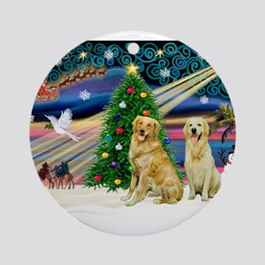 Xmas Magic & Golden pair Ornament (Round)