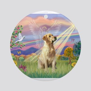 Cloud Angel / Lab (y) Ornament (Round)