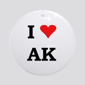 I Heart Alaska Ornament (Round)