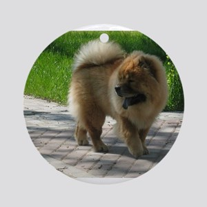 chow chow full Round Ornament