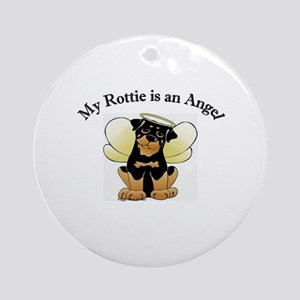 My Rottie is an Angel Ornament (Round)