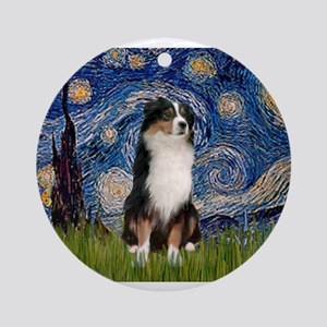 TILE-Starry-Aussie2 Ornament (Round)