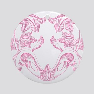 Pink heart Round Ornament