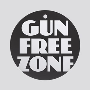 Gun Free Zone Round Ornament