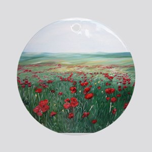 poppy poppies art Ornament (Round)