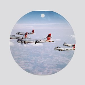 B-17 Formation Ornament (Round)