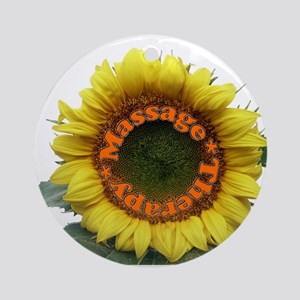 Massage Sun Flower Ornament (Round)