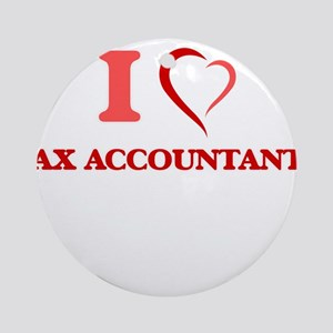 I love Tax Accountants Round Ornament
