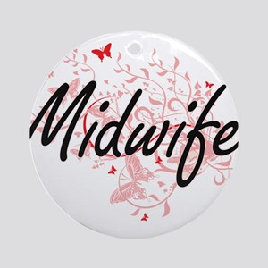 Midwife Artistic Job Design with Bu Round Ornament