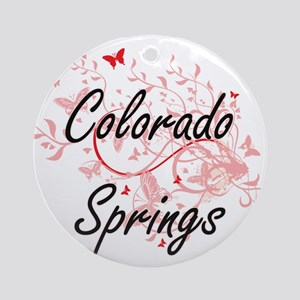 Colorado Springs Colorado City Arti Round Ornament