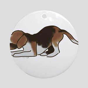 beagle playing Ornament (Round)