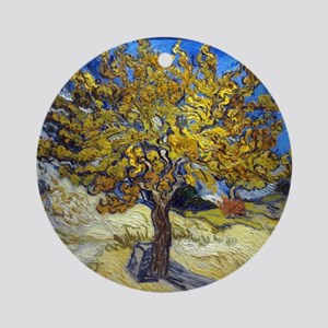 Van Gogh Mulberry Tree Round Ornament