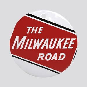 Milwaukee Road logo- slanted Round Ornament