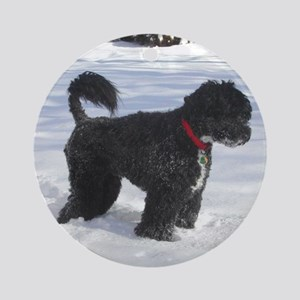 portuguese water dog full Round Ornament