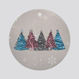 Transgender Christmas Trees Ornament (Round)