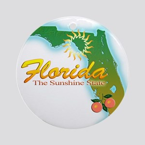 Florida Ornament (Round)