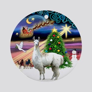 Xmas Magic & Llama Ornament (Round)