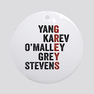 Grey's Anatomy Vertical. Round Ornament