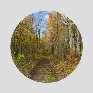 Hiking Trail In Autumn Round Ornament