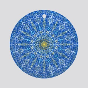 Abstract ornamental pattern mandala Round Ornament
