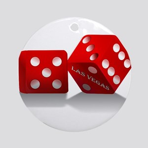 Las Vegas Red Dice Ornament (Round)