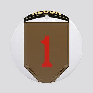 1st ID Recon Ornament (Round)