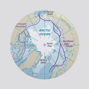 Arctic Circle Map Round Ornament