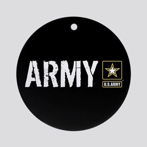 U.S. Army: Army (Black) Round Ornament