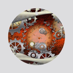 Steampunk in noble design Round Ornament